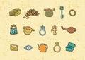 Treasure elements illustration Royalty Free Stock Photo