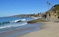 Treasure Island and Victoria Beaches in Laguna Beach, Caalifornia. Royalty Free Stock Photo