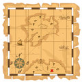 Treasure map this is file of eps format Stock Image