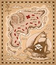 Treasure map theme image 1 Stock Images
