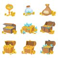 Treasure And Riches Set Of Graphic Design Elements Royalty Free Stock Photo