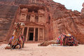 The Treasury,Al Khazneh, in Petra, Jordan Royalty Free Stock Photo