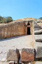 Treasury of atreus in mycenae greece Royalty Free Stock Photos