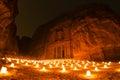 The Treasury at night. Royalty Free Stock Photo