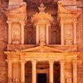 Treasury in Petra Royalty Free Stock Photo