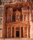 The treasury in petra ancient nabbatean city of todays jordan Royalty Free Stock Photos