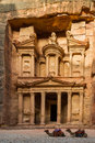 Treasury at petra giant jordan Royalty Free Stock Photography