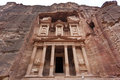 The Treasury in Petra - Jordan Stock Image