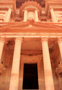 The treasury at Petra, Lost rock city of Jordan. Royalty Free Stock Images