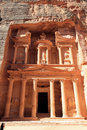 The treasury in petra preserved ruins of an ancient time jordan featuring building Royalty Free Stock Images