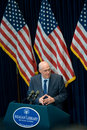 Treasury Secretary Henry Paulson at Reagan Library Royalty Free Stock Images