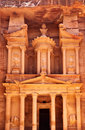 Treasury temple at Petra Royalty Free Stock Photography