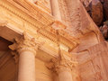 Treasury tomb in Petra. Royalty Free Stock Photos