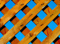 Treated wood trellis with a perfect blue sky in the background Stock Image