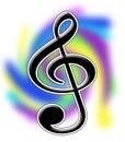 Treble иллюстрации clef Стоковая Фотография RF