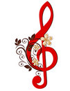 Treble clef Royalty Free Stock Photos