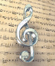 Treble clef Royalty Free Stock Photo
