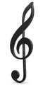 Treble clef d image of Stock Photography