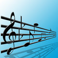 Treble clef and music notes Royalty Free Stock Photography