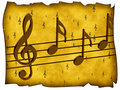 Treble clef and notes Royalty Free Stock Photography