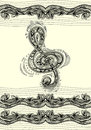 Treble Clef Notes Musical Stan...