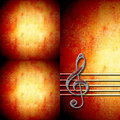 Treble clef staff background musical with and with empty space for writing Royalty Free Stock Photo