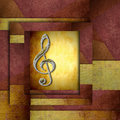 Treble clef staff musical background with modern style Royalty Free Stock Photos