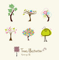 Tree art illustrations Royalty Free Stock Photo