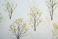 Tree art wallpapers and backgrounds wall room design Stock Images