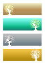 Tree banners Stock Photo