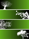 Tree banners Stock Images