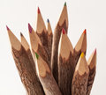 Tree bark pencils close up of made of branches Royalty Free Stock Photos
