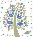 Tree and birds Royalty Free Stock Photo
