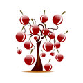 Tree with cherries Royalty Free Stock Photo