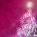 Tree christmas backgrounds snow new year and Stock Photography