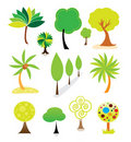 Tree collection Stock Images