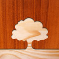 Tree concept in wood two pieces of with shape cutout Stock Photography
