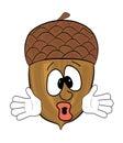 Tree cone cartoon character Royalty Free Stock Photo