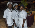 Tree cooks portrait of three at the kombo beach in the gambia http www kombobeachhotel gm Royalty Free Stock Images