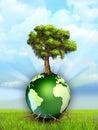 Tree and Earth Royalty Free Stock Photo