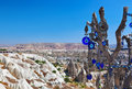 Tree and evil eye amulet in Cappadocia Turkey Royalty Free Stock Photography
