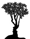 Tree Faces Optical Illusion Concept Royalty Free Stock Photo