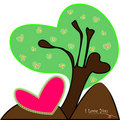 Tree Green-Heart Stock Images