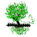 Tree with green leaves vector illustration background Royalty Free Stock Photos