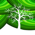 Tree with green pattern Stock Photo