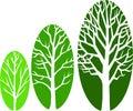 Tree Growth Ovals/eps