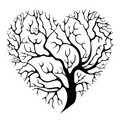 Tree-heart Stock Photography