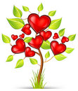 Tree of hearts Royalty Free Stock Images