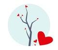 Tree with Hearts Illustration