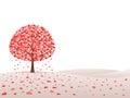 Tree with hearts